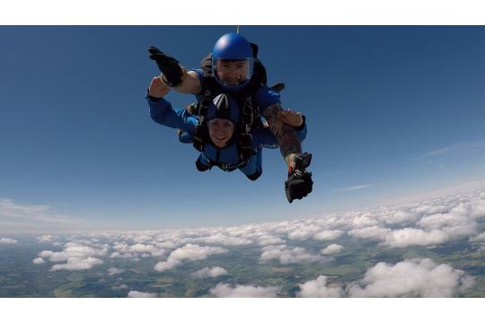Sachas' Parachute Jump For Wessex Ms Centre
