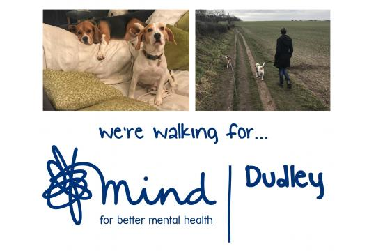We're Walking For Dudley Mind...